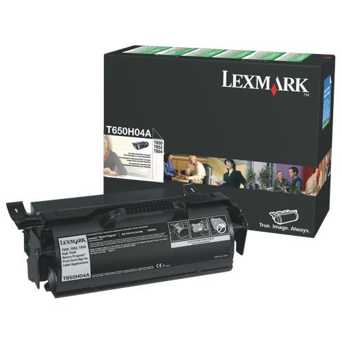 Cartouche de poudre d'encre noire T650H04A de Lexmark (T650H04A)