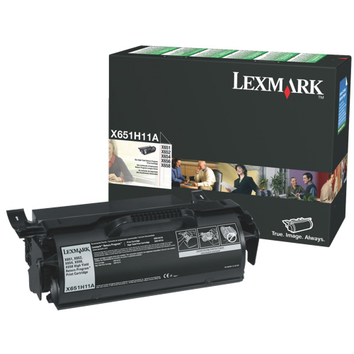 Cartouche de poudre d'encre noire X651H11A de Lexmark (X651H11A)
