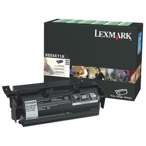 Lexmark Black Toner (X654X11A)