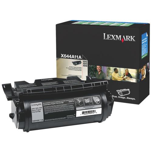 Cartouche de poudre d'encre noire de Lexmark (X644X11A)