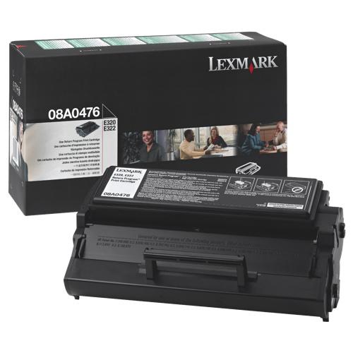Cartouche de poudre d'encre noire de Lexmark (08A0476)