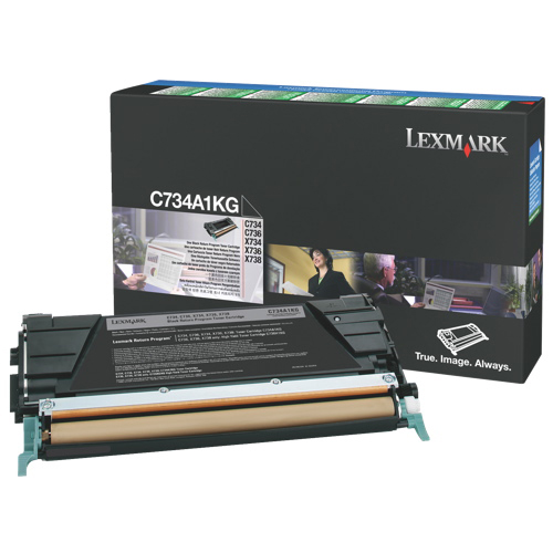 Cartouche de poudre d'encre noire de Lexmark (C734A1KG)