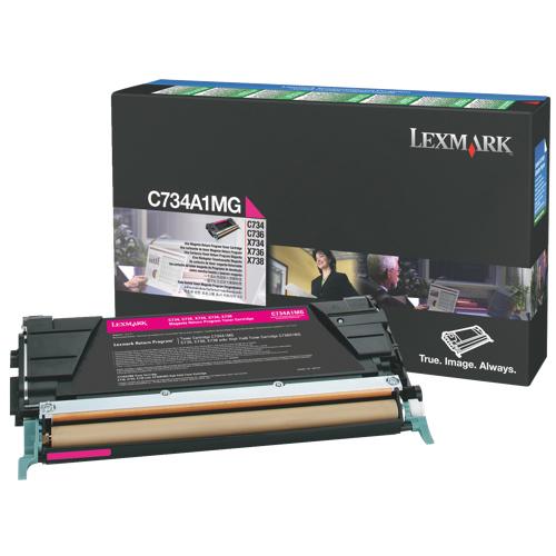 Cartouche de poudre d'encre magenta de Lexmark (C734A1MG)