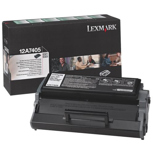 Cartouche de poudre d'encre noire de Lexmark (12A7405)