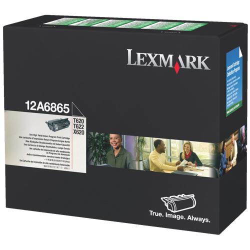 Cartouche de poudre d'encre noire de Lexmark (12A6865)