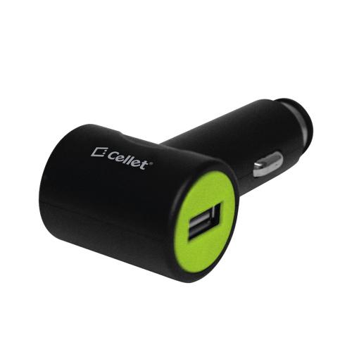 Chargeur USB pour l'auto de Cellet (F27750) - Noir/vert