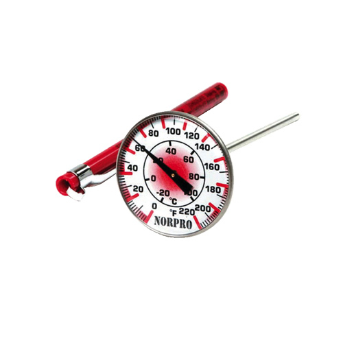 Norpro Instant Read Thermometer with Protective Sleeve (5980) - Red/White
