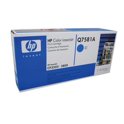 Cartouche de poudre d'encre cyan LaserJet 503A de HP (Q7581A)