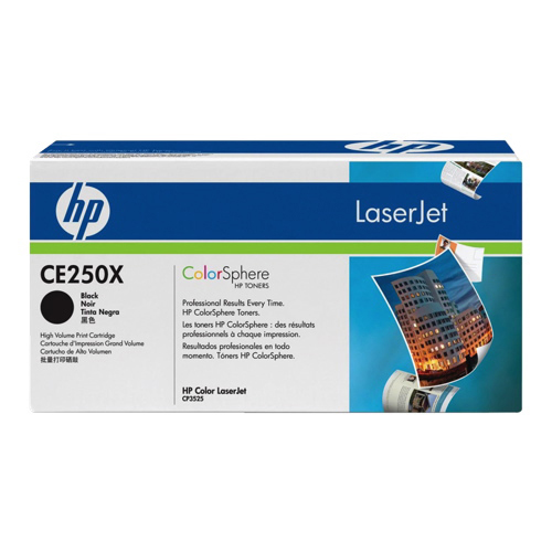 Cartouche de poudre d'encre noire LaserJet 504X de HP (CE250X)