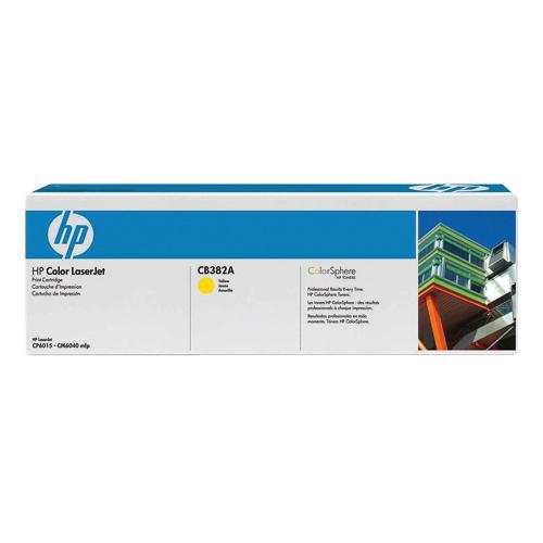 Cartouche de poudre d'encre jaune 824A LaserJet de HP (CB382A)