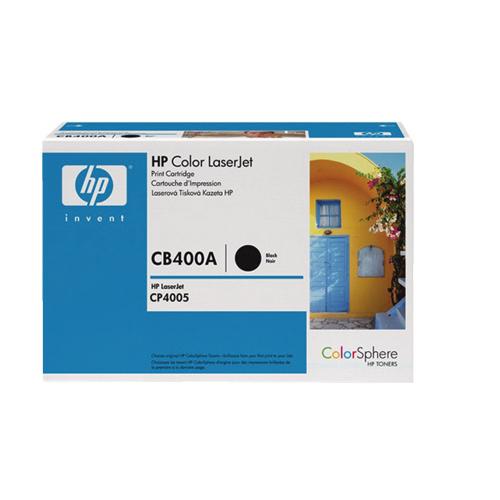 Cartouche de poudre d'encre noire LaserJet 642A de HP (CB400A)