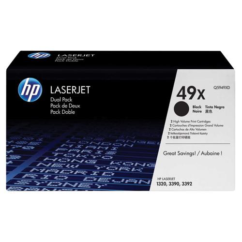 HP LaserJet 49X Black Toner (Q5949XD) - 2 Pack