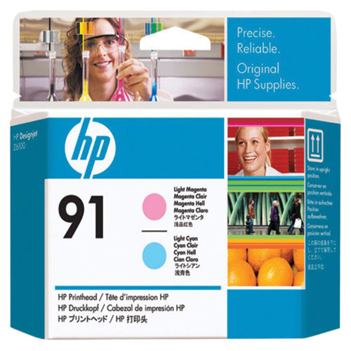 HP 91 Light Cyan/Light Magenta Ink (C9462A) - 2 Pack