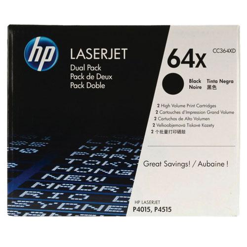 Cartouche d'encre en poudre noire 64X de HP (CC364XD) - Paquet de 2