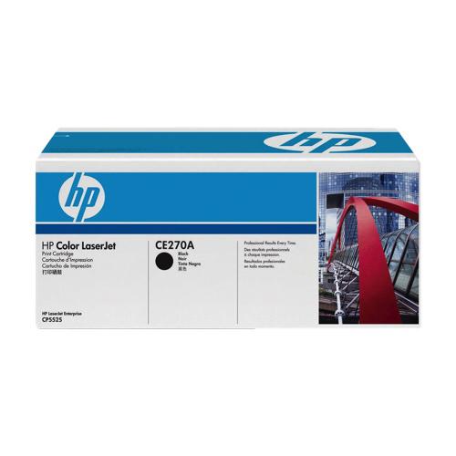 Cartouche de poudre d'encre noire LaserJet 650A de HP (CE270A)