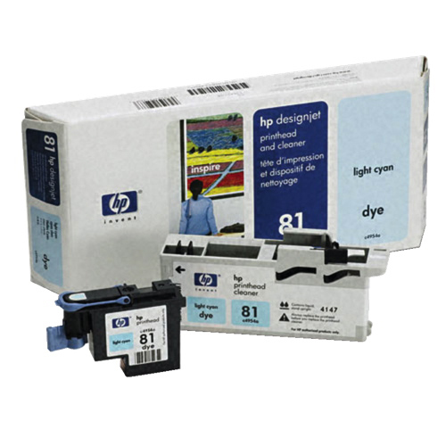 HP Designjet 81 Light Cyan Ink (C4954A)