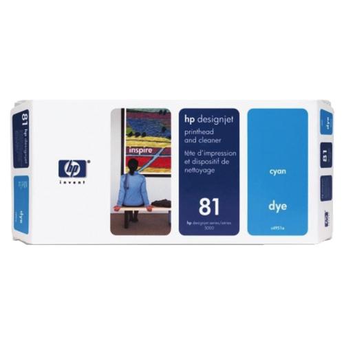 HP Designjet 81 Cyan Ink (C4951A)