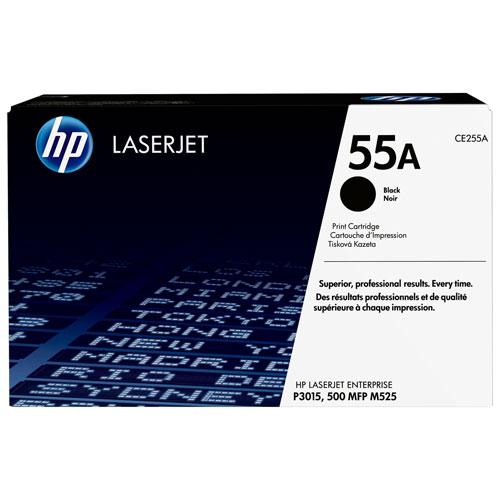 Cartouche de poudre d'encre noire LaserJet 55A de HP (CE255A)