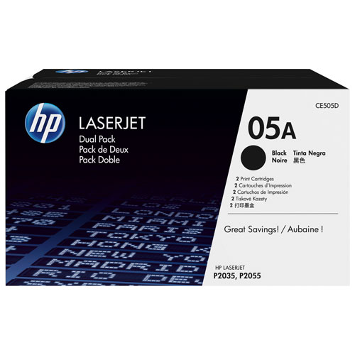 HP LaserJet 05A Black Toner - 2 Pack