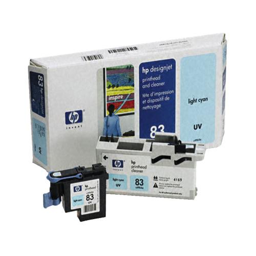 Tête d'impression cyan et dispositif de nettoyage 83 pour Designjet de HP (C4964A)