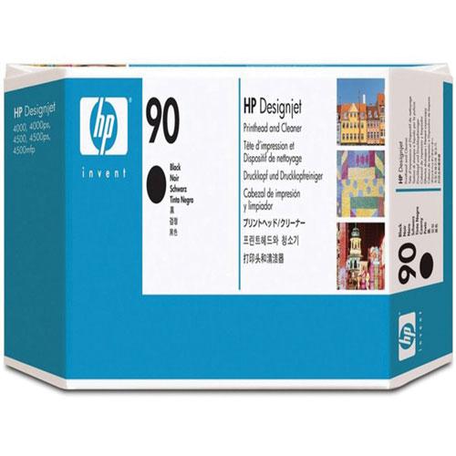 Cartouche d'encre cyan 90 Designjet avec nettoyant de HP (C5055A)