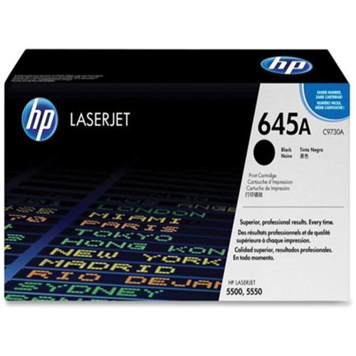 Cartouche de poudre d'encre noire LaserJet 645A de HP (C9730A)