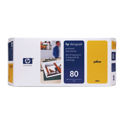 HP Designjet 80 Yellow Ink With Cleaner (C4823A)