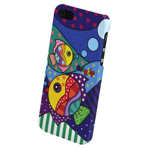 Gel Grip Design iPhone 5/5s Soft Shell Case (IP5D1) - Dark Blue