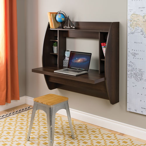 homcom floating wall mount office computer desk. Floating Contemporary 8-Shelf Wall-Mounted Desk - Espresso Brown Online Only Homcom Wall Mount Office Computer F