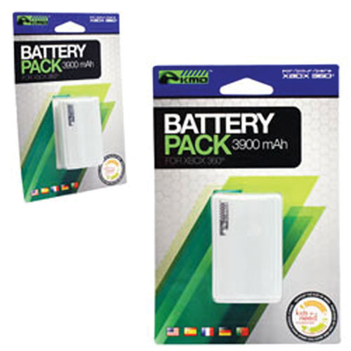 Komodo Rechargeable Battery Pack for Xbox 360 - White