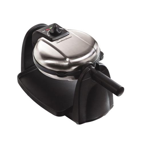 Gaufrier de style belge d'Hamilton Beach (26030C) - Noir et acier inoxydable