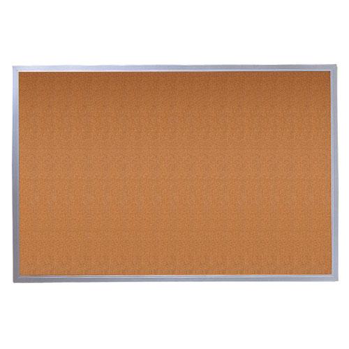 Quartet 4' x 3' Corkboard with Aluminum Frame (3413802304)