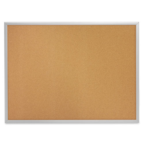Quartet 3' x 2' Corkboard with Aluminum Frame (3413802303)