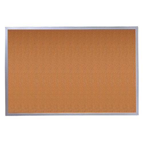 Quartet 4' x 3' Econo Cork Bulletin Board with Aluminum Frame (3413836348)