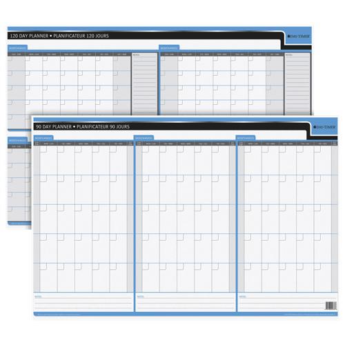 Planificateur non daté effaçable à deux côtés de 24 x 36 po de Quartet