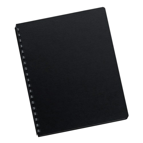 Couverture de reliure Futura de 216 x 279 mm de Fellowes (5224901) - Noir/Paquet de 25