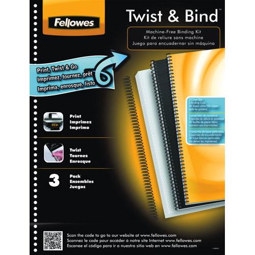 Fellowes TwistBind Spiral Bound Binding Kit (5226306) -