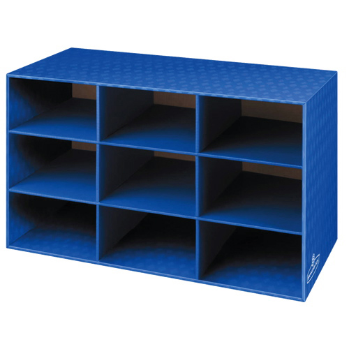 Fellowes Bankers Box 9 Compartment Classroom Cubby 4-Pack (3380701) - Blue