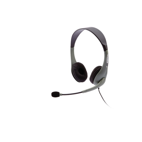 Cyber Acoustics Speech Recognition Stereo Headset (AC-202B) - Black/Grey