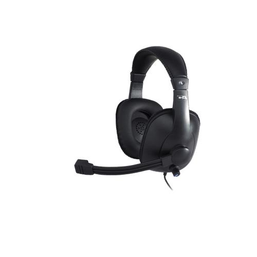 Casque supra-auriculaire avec microphone de Cyber Acoustics (AC-960) - Noir