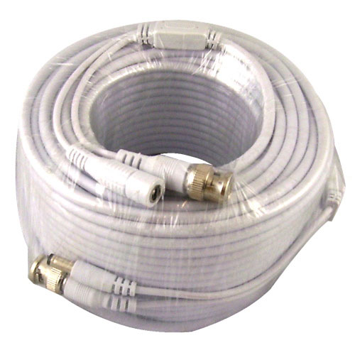 Vonnic 30.4m (100 ft.) Security Camera Siamese Cable (CB100W) - White