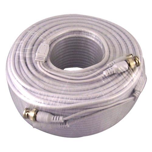 Vonnic 60.9m (200 ft.) Security Camera Siamese Cable (CB200W) - White