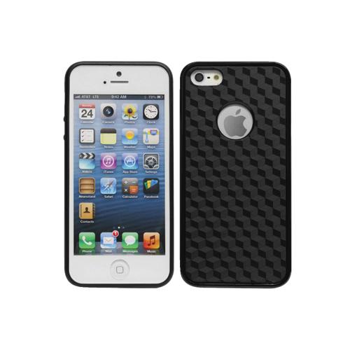 Étui rigide Proguard de Cellet pour iPhone 5/5s (F63629) - Cubes noirs