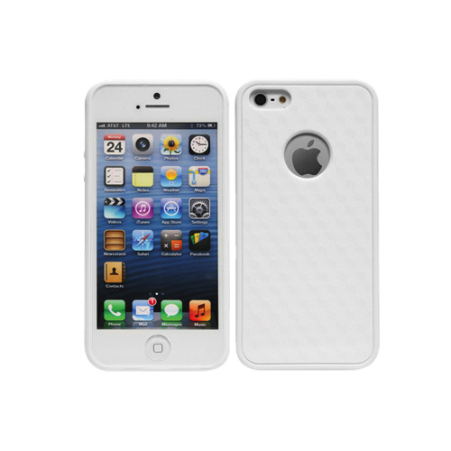 Cellet Proguard iPhone 5/5s Hard Shell Case (F63630) - White Cubes