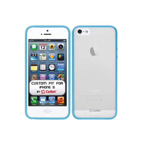Cellet iPhone 5/5s Hard Shell Case (F63570) - Blue/Clear