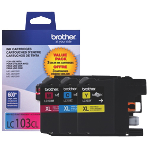 Brother LC103CL Colour Ink - 3 Pack