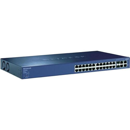 Commutateur intelligent ProSafe à 24 ports PoE 10/100 4 ports Gigabit de NETGEAR (FS728TP-100NAS)