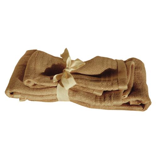 Ensemble de 2 serviettes pour invités de Shoo-Foo (SMALLSET) - Brun