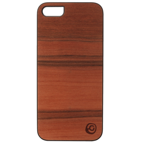Affinity iPhone 5/5s Wood Hard Shell Case (ZIM513) - Brown