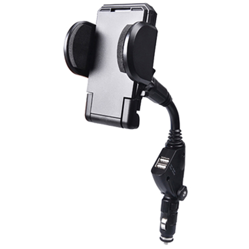 Avantree 2-in-1 Car Power Mounted Cradle with Dual USB Charger (FCHD-210) - Black